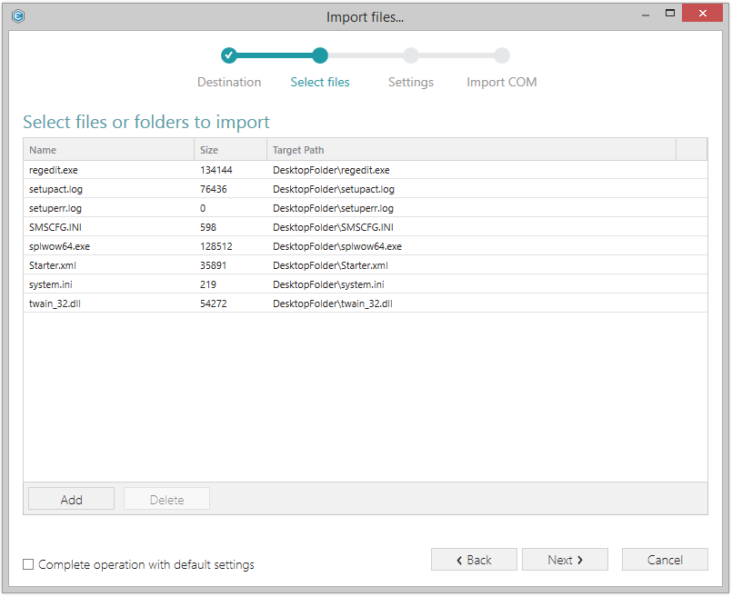 New wizards in version 4.1 of PACE Suite, the application packaging software