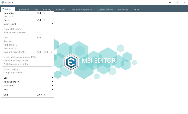 create mst file