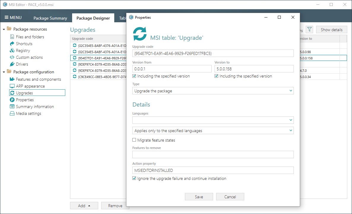 manage package upgrades